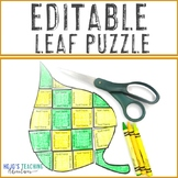 EDITABLE Fall Activity: Make your own Leaf Activities: Col