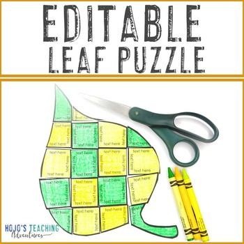 EDITABLE Fall Activity: Make your own Leaf Activities: Coloring Page Alternative