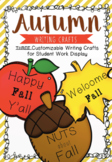 EDITABLE Fall Writing Crafts