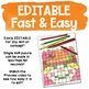 EDITABLE Fall Themed Hidden Picture Puzzles   November Center Activities