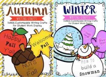 EDITABLE Fall & Winter Writing Crafts BUNDLE (Save 20%!)