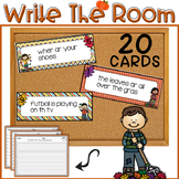 EDITABLE Fall Write The Room Sentence Fixers