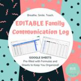 Parent Communication Log (EDITABLE) For Your Google Drive