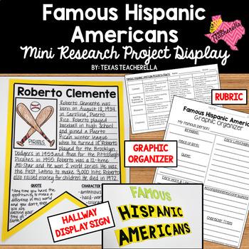 EDITABLE Famous Hispanic American Mini Research Project Display