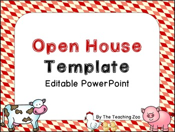 EDITABLE Farm Theme Open House PowerPoint