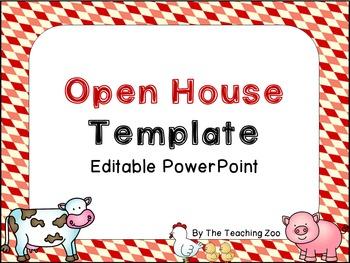 EDITABLE Farm Theme Open House PowerPoint