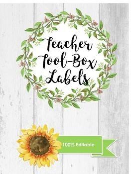 EDITABLE Farmhouse Labels - Teacher Toolbox