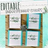 EDITABLE Farmhouse/Rae Dunn inspired Planner/Binder Covers