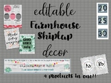 EDITABLE Farmhouse/Shiplap DECOR