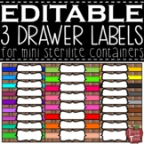 EDITABLE Farmhouse Wooden 3 Drawer Labels for Mini Sterili