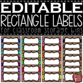 EDITABLE Farmhouse Wooden Rectangle Labels {for the Really