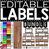 EDITABLE Farmhouse Wooden Shiplap Labels BUNDLE