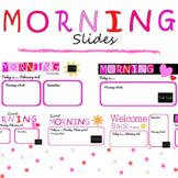 EDITABLE February Slides WITH TIMER / Good Morning Slides