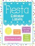 EDITABLE Fiesta Inspired Classroom Labels!