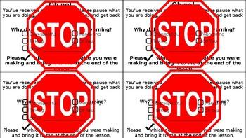 EDITABLE Fine/Warning Slips for Classroom Economy