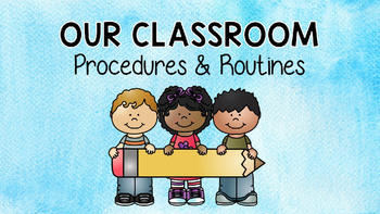 EDITABLE First Day of School Procedures & Routines PPT