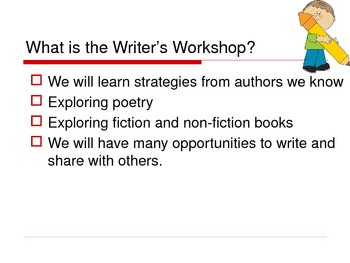 EDITABLE First Day's of Writer's Workshop POWERPOINT