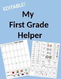 EDITABLE First Grade Helper
