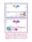 *EDITABLE* Fish ~Snack Gift Toppers for Students, Staff, V