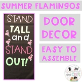 EDITABLE Flamingo bulletin board or door decor