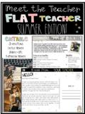 EDITABLE Flat Teacher Summer Edition Project and Meet the