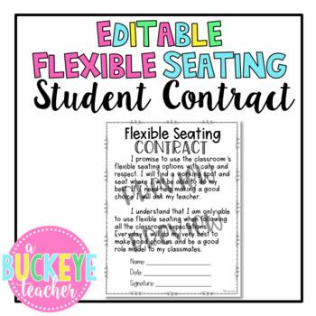 EDITABLE Flexible Seating BUNDLE