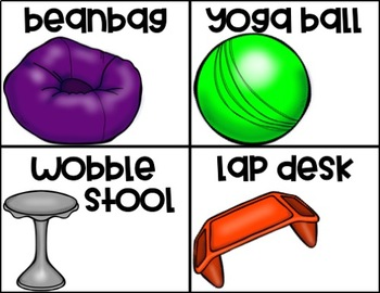 EDITABLE Flexible Seating Choice Board/Cards