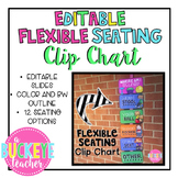 EDITABLE Flexible Seating Clip Chart
