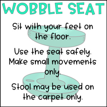 EDITABLE Flexible Seating Expectations FREEBIE