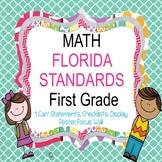 Florida Standards MAFS-MATH 1st grade Focus Wall/ Learning Goals