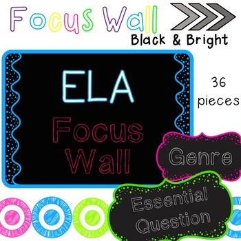 EDITABLE Focus Wall - Black and Bright Style