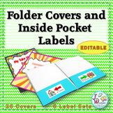 EDITABLE Folder Covers & Folder Labels - Left at home Righ