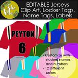 EDITABLE Football Jersey Name Tags, Bin Labels, Locker Tag