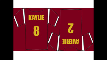 EDITABLE Football Jerseys For Bulletin Board