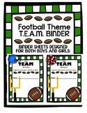 EDITABLE Football T.E.A.M Binder Cover