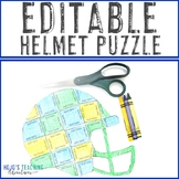 EDITABLE Football Themed Activities | FUN Helmet for Homecoming or Sports Games