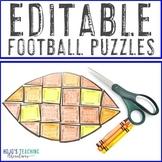 EDITABLE Football Themed Activities | FUN Homecoming or Fa
