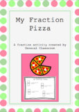 EDITABLE Fraction Pizza Activity Sheet