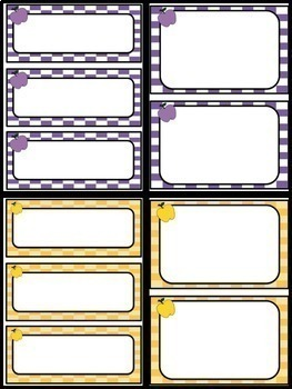 """{""""Apple Themed""""} EDITABLE Frames, Labels and Task Cards"""