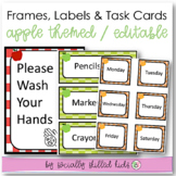 Apple Themed EDITABLE Frames, Labels and Task Cards