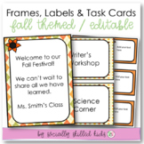 "EDITABLE Frames, Labels and Task Cards {""Fabulous Fall""}"