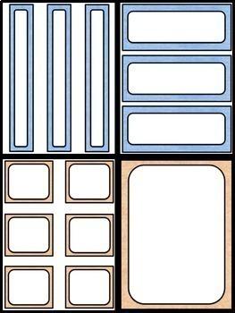 """EDITABLE Frames, Labels and Task Cards {""""Soft Felt""""}"""