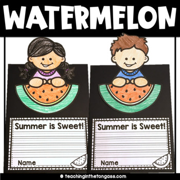 Free End of the Year Activities (Watermelon Craft)