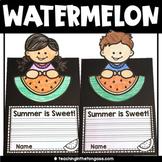Free Summer Craft | Watermelon Writing Craftivity