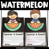 EDITABLE Free End of the Year Activities (Watermelon Craft)