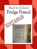 EDITABLE Fridge Friend- Back to School Customizable Reference