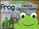 EDITABLE Frog Math and Literacy Center Activities