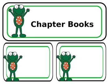 EDITABLE Frog Themed Library Labels