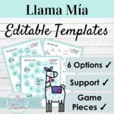 EDITABLE Speaking Activity Templates Llama Mía   Editable Game