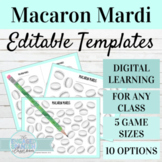 EDITABLE Game Templates Macaron Mardi | Digital Game